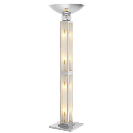 Lampa podłogowa Dorrell niklowane wykończenie Eichholtz