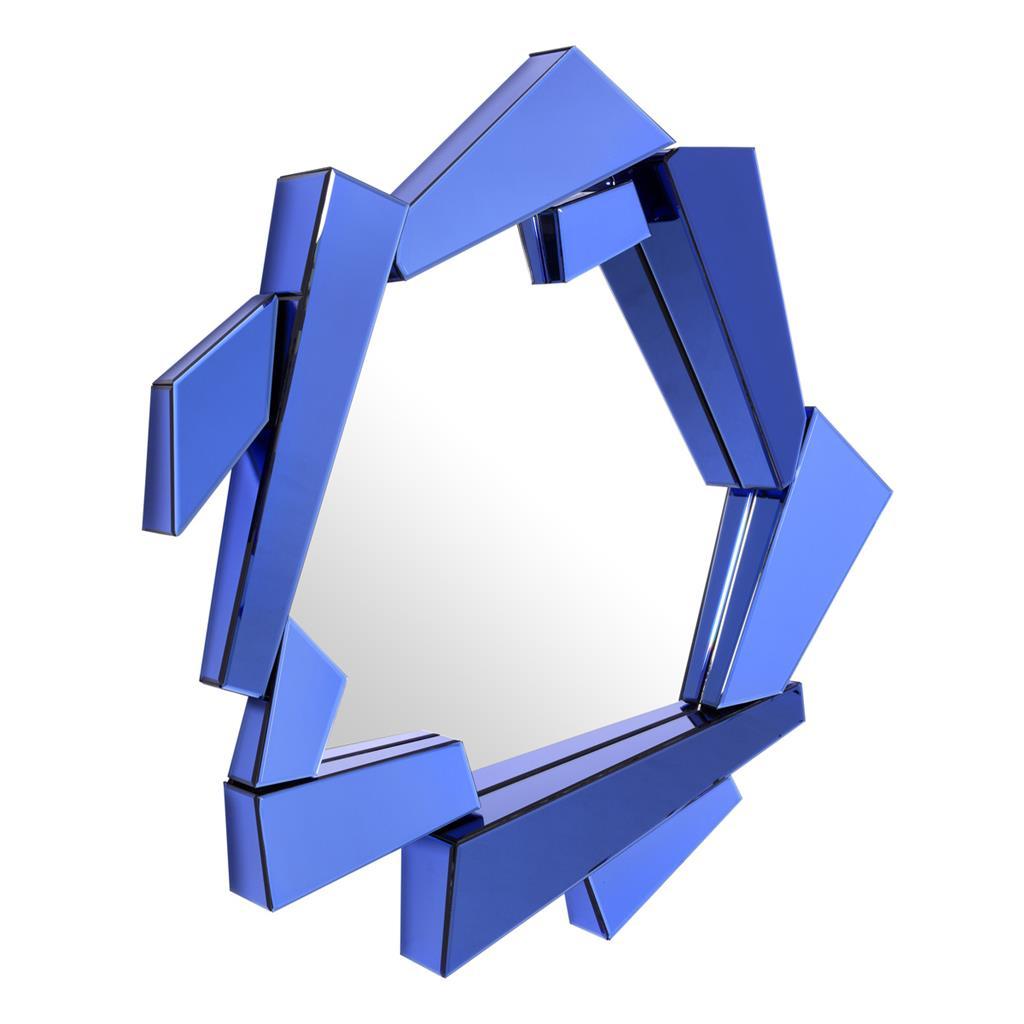 Niebieskie lustro Cellino Eichholtz