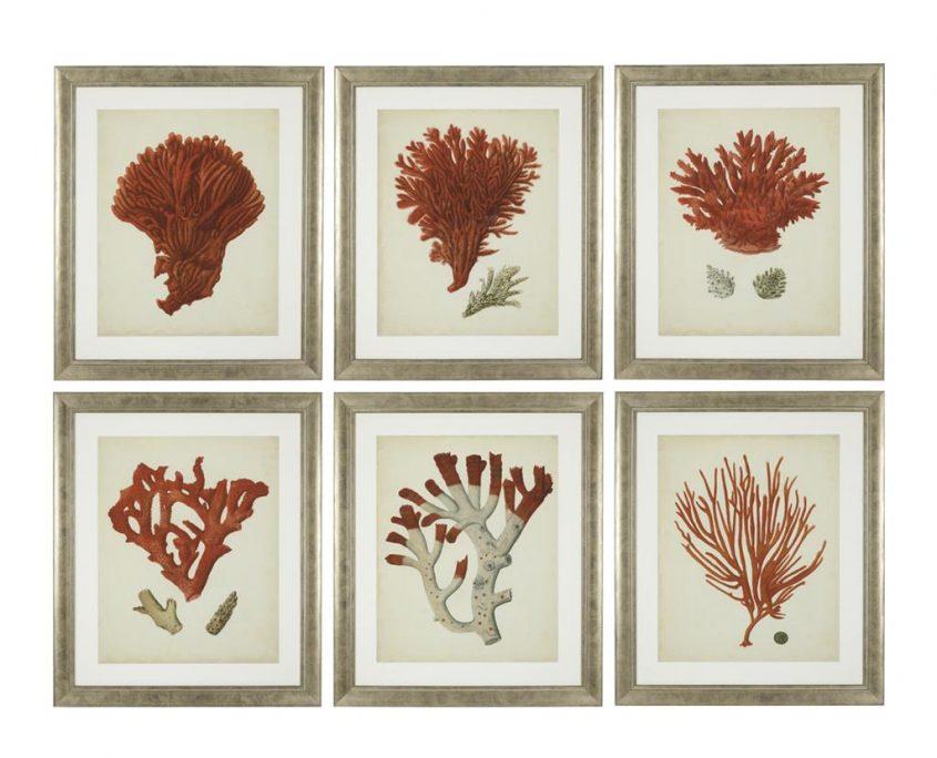 Koralowe dodatki do wnętrz - grafika