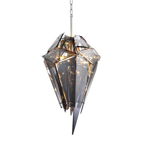 Żyrandol Shard niklowane wykończenie smoke glass Eichholtz