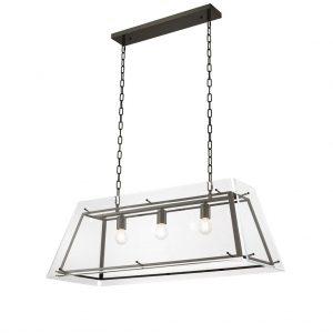 Lampa Azure L bronze finish bevelled glass Eichholtz