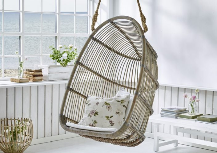 Podwieszane krzesło wiklinowe Renoir Originals  Sika