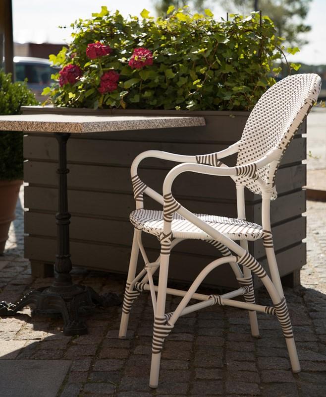 7176CPWH ALU Valerie_vand meble Sika Białe krzesła ogrodowe z klasyczną nutą