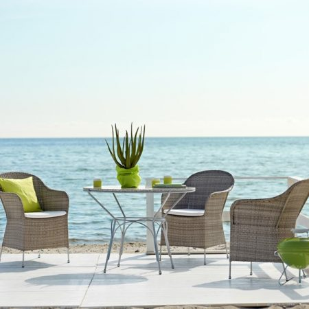 Eleganskie krzesła zewętrzne 9140T Athene meble Sika