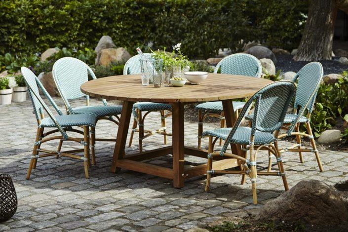 Okrągły stół ogrodowy teak George Affaire  Sika 1