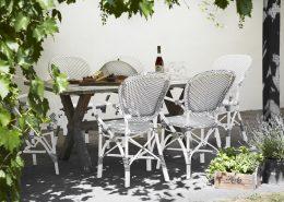 9181CPWH 9475 meble Sika Białe krzesła ogrodowe z klasyczną nutą