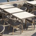 9187WHCP Madeleine meble Sika Eleganckie meble w zewnętrznej części restauracji