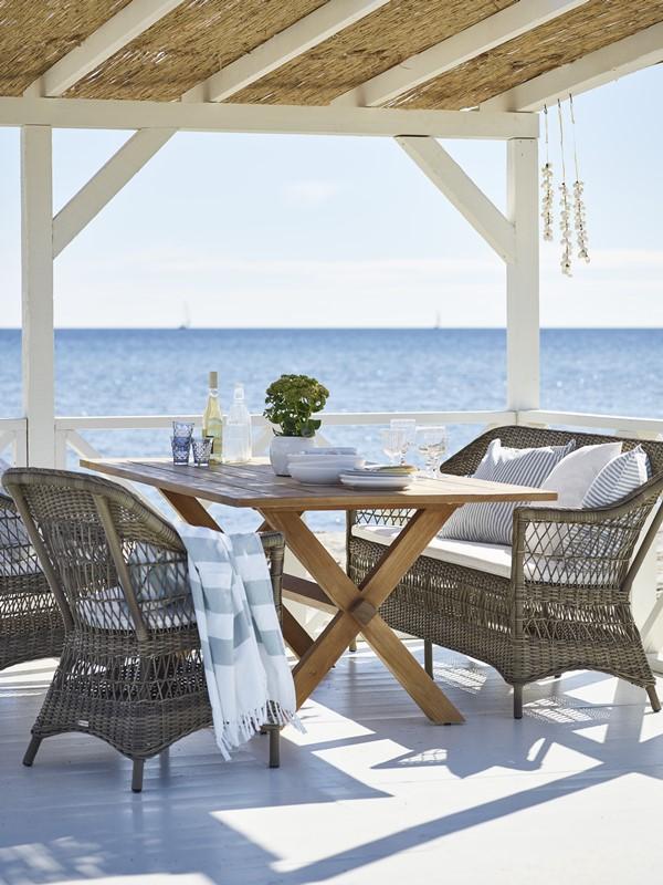 Plecione meble ogrodowe w klasycznym stylu 9190T Charlot Colonial meble Sika 2
