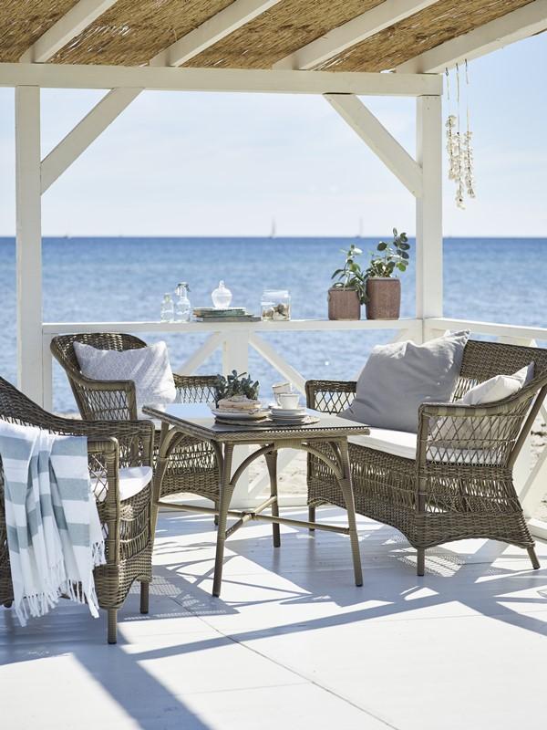 Plecione meble ogrodowe w klasycznym stylu 9190T Charlot Victoria meble Sika 1
