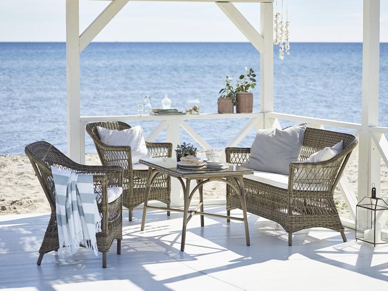 Plecione meble ogrodowe w klasycznym stylu 9190T Charlot victoria meble Sika