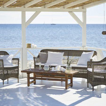 Plecione meble ogrodowe w klasycznym stylu 9190T Charlot_ Julian meble Sika
