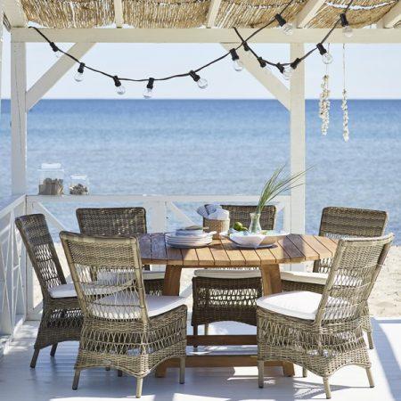 Pleciony zestaw ogrodowy z okrągłym stołem 9195T Marie George meble Sika