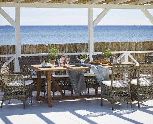 Duża jadalnia letnia w klasycznym stylu 9196T Marie 9195T George meble Sika