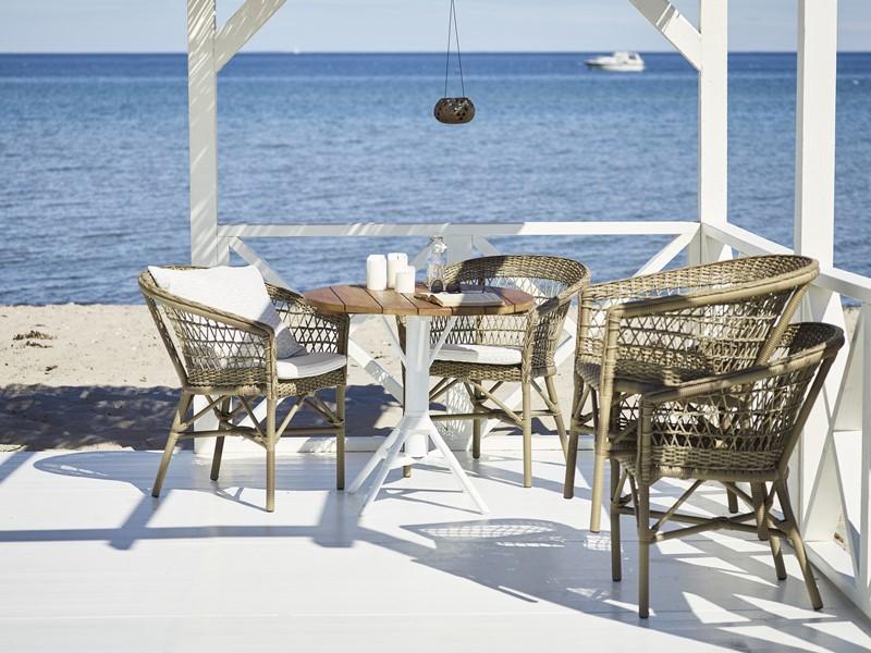Plecione meble ogrodowe w nowoczesnym stylu 9197T Emma Nicole meble Sika