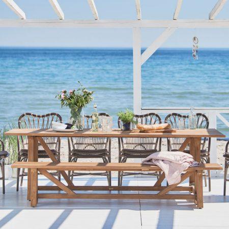 Prostokątny stół ogrodowy George Affaire Sika