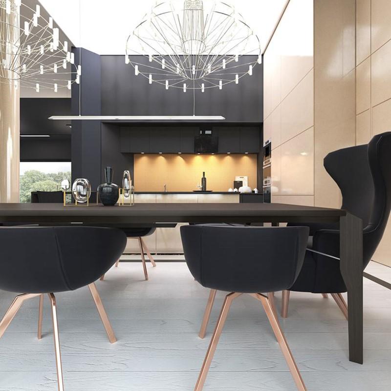 Czarne meble kuchenne w luksusowym wydaniu