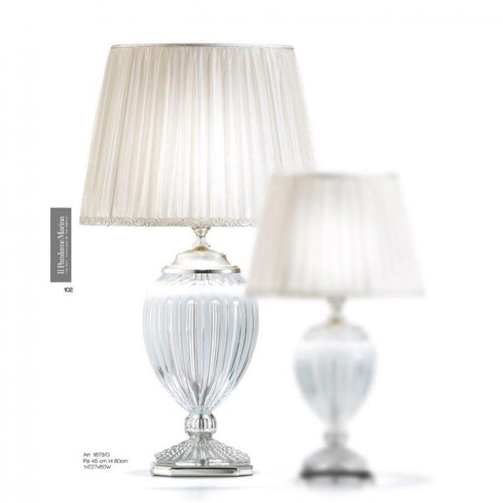 Klasyczna lampa stołowa z kryształuIl Maralume Marina