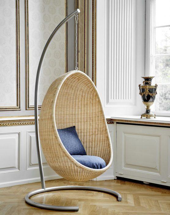 Srebrny stojak do wiszącego fotela Egg Chair Icons  Sika