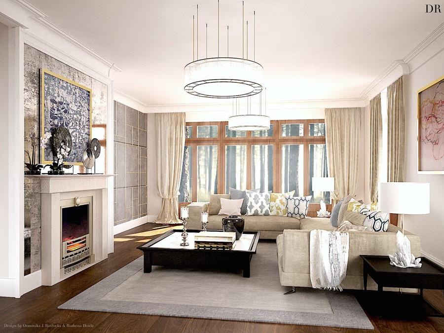 nowoczesny salon z kominkiem klasyka i nowoczesno w jednym. Black Bedroom Furniture Sets. Home Design Ideas