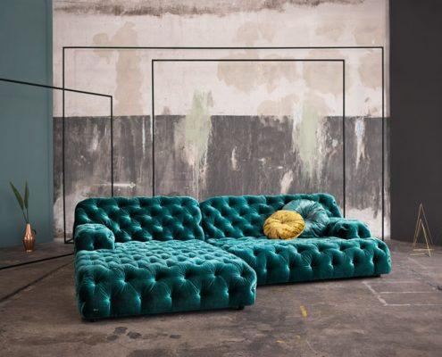 Turkusowa sofa Cocoasiland, Bretz