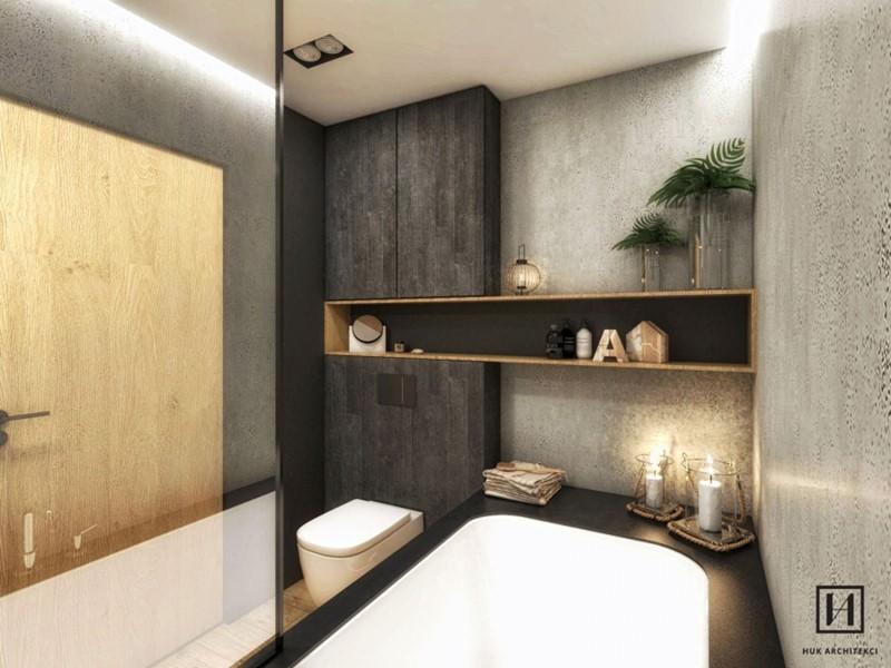 Łazienka w stylu skandynawskim w naturalnych kolorach