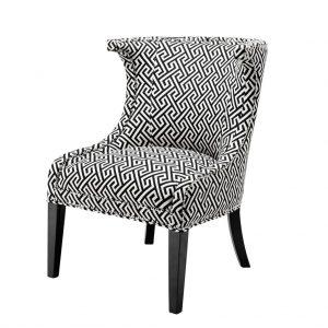 Krzesło Elson biało-czarne Eichholtz