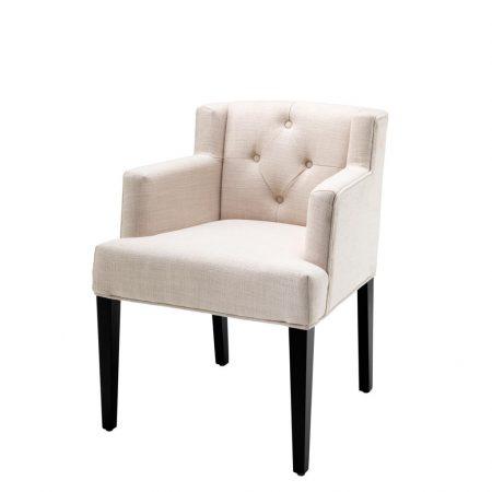 Eleganckie krzesło do jadalni z podłokietnikami Boca Raton Eichholtz