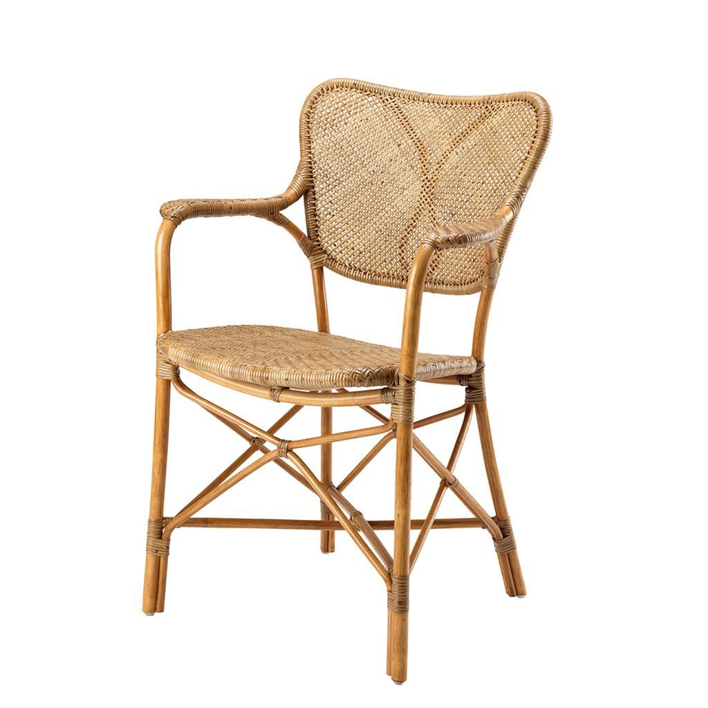 Rattanowe krzesło z podłokietnikami Colony brąz