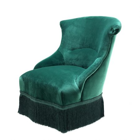 Fotel Etoile z aksamitu turkus Eichholtz