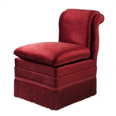Krzesło do jadalni Boucheron burgund Eichholtz