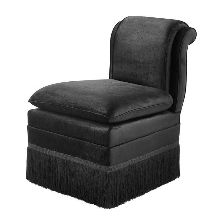 Krzesło do jadalni Boucheron czarne Eichholtz