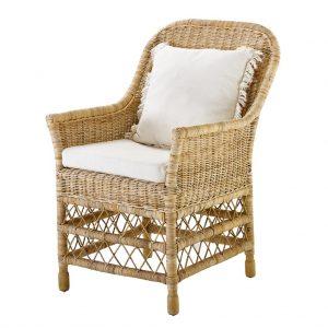 Rattanowe krzesło do jadalni Elegant Eichholtz