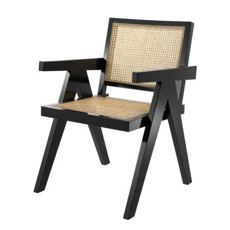 Rattanowe krzesło do jadalni Adagio Eichholtz