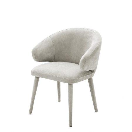 Krzesło do jadalni Cardinale welwet jasnoszare Eichholtz