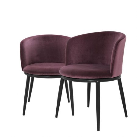 Eleganckie krzesło do jadalni Filmore Eichholtz fiolet
