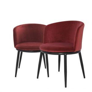 Eleganckie krzesło do jadalni Filmore Eichholtz burgund