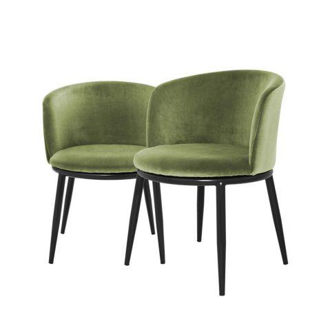 Eleganckie krzesło do jadalni Filmore Eichholtz zieleń