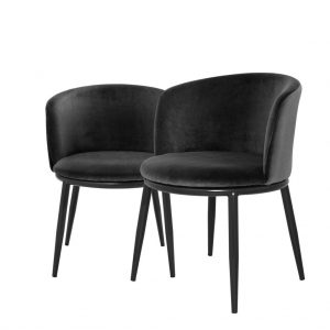 Eleganckie krzesło do jadalni Filmore Eichholtz czerń