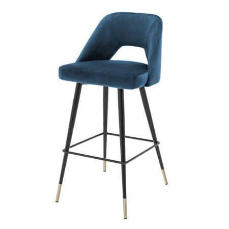 Krzesło barowe Avorio Eichholtz welwet granat
