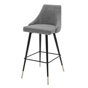 Krzesło barowe Cedro Eichholtz ciemnoszary