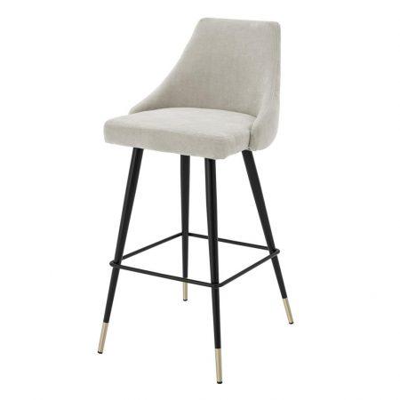 Krzesło barowe Cedro Eichholtz jasnoszary