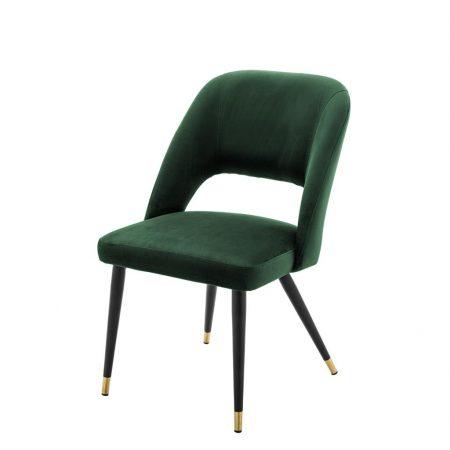 Krzesło do jadalni Cipria welwet zieleń Eichholtz