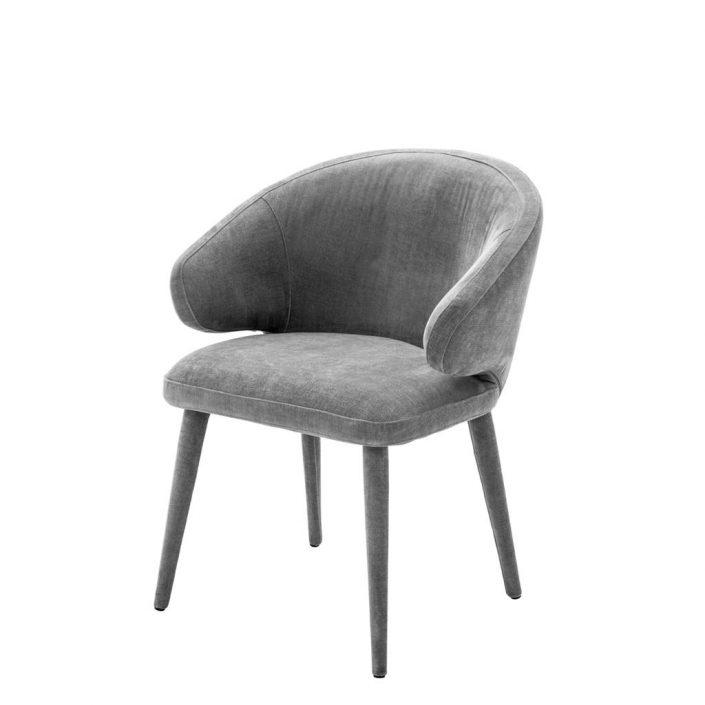 Krzesło do jadalni Cardinale welwet ciemnoszary Eichholtz