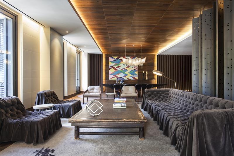 Luksusowe wnętrze nowoczesnego apartamentu