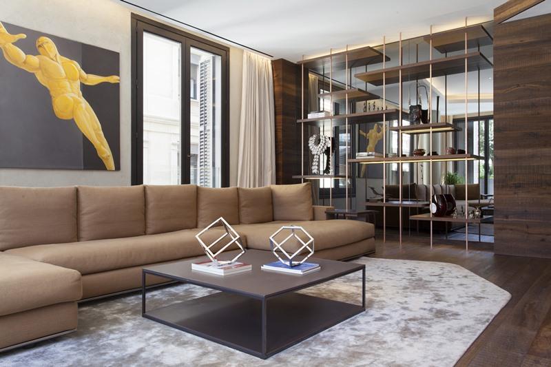 Luksusowy salon w apartamencie