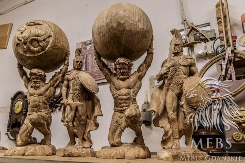 Meble gdańskie rzeźby