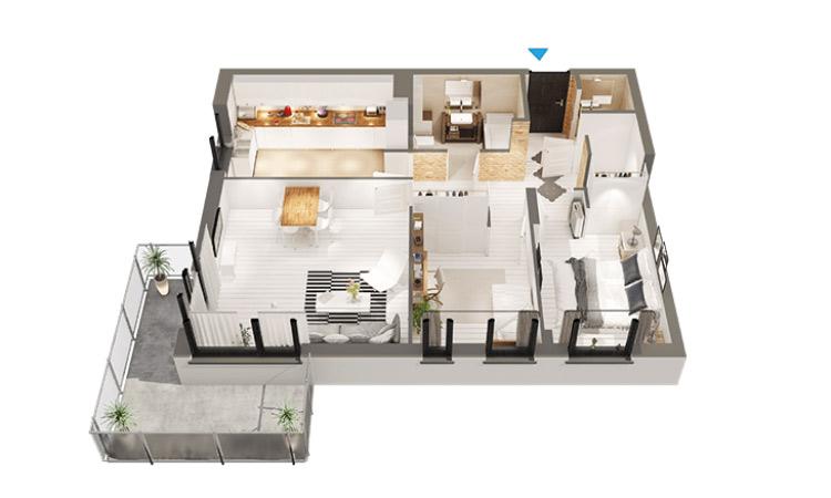 Model mieszkania na osiedlu Dekada o-pow