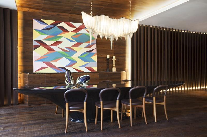 Nowoczesne wnętrza w luksusowym apartamencie