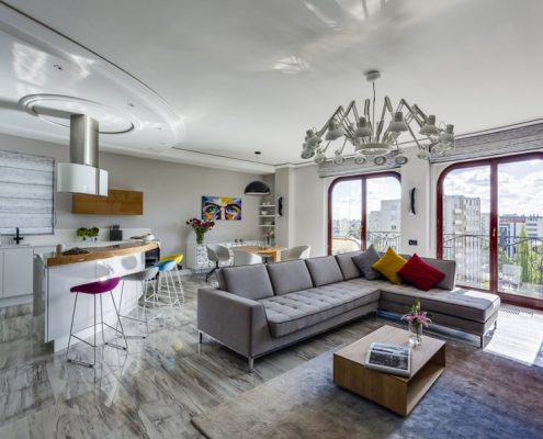 Nowoczesny apartament inspirowany dziełami polskiej malarki
