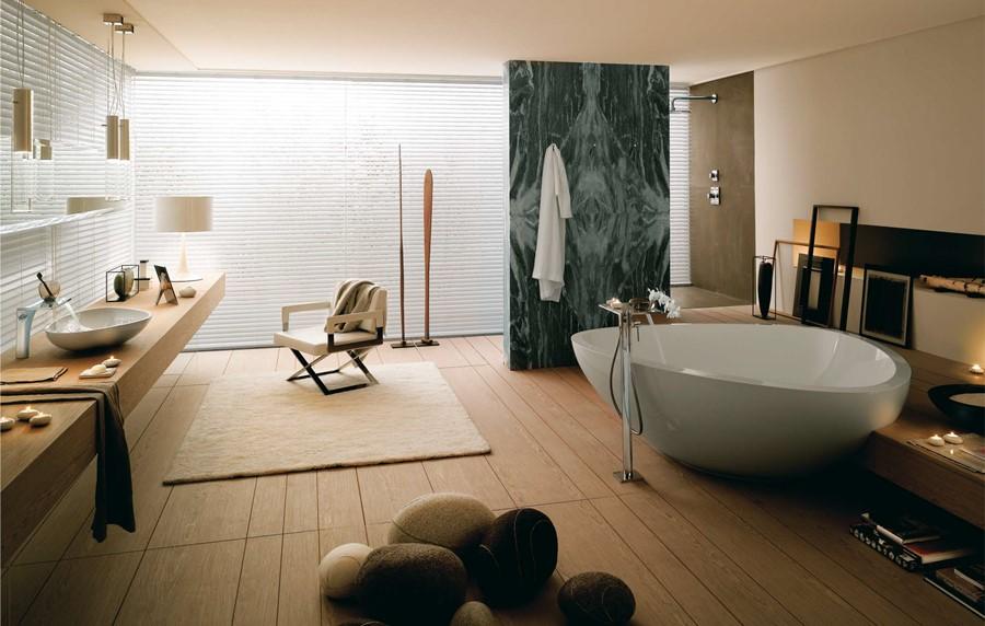 Stylowy pokój kąpielowy w stylu skandynawskim
